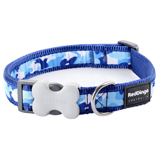 Picture of Dog Collar Camouflage Navy XS