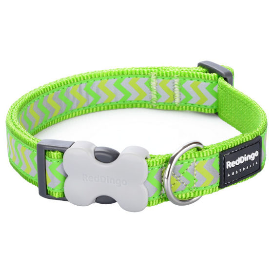 Picture of Dog Collar Reflect.Ziggy Lime Green XS