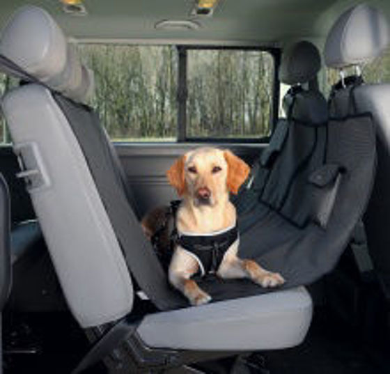 Picture of Car seat cover 1.40x1.45 m black-brown