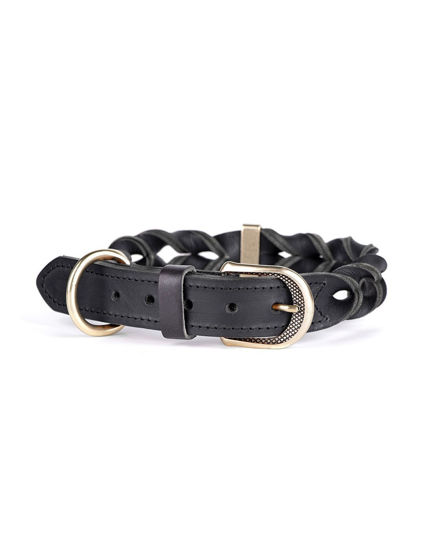 Picture of Collar 30-36 CM Leather - Black
