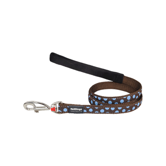 Picture of Dog Lead Blue Spots on Brown M